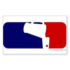 Beer Pong League Logo Rectangle Decal