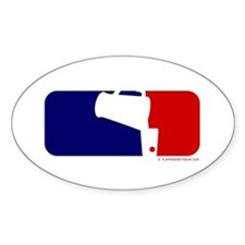 Beer Pong League Logo Oval Decal