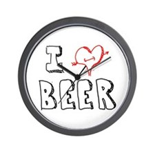 I Love Beer (Penciled) Wall Clock