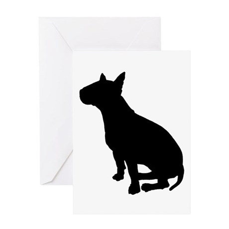 Bull Terrier Dog Breed Greeting Card