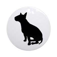Bull Terrier Dog Breed Ornament (Round)