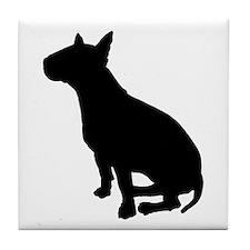 Bull Terrier Dog Breed Tile Coaster