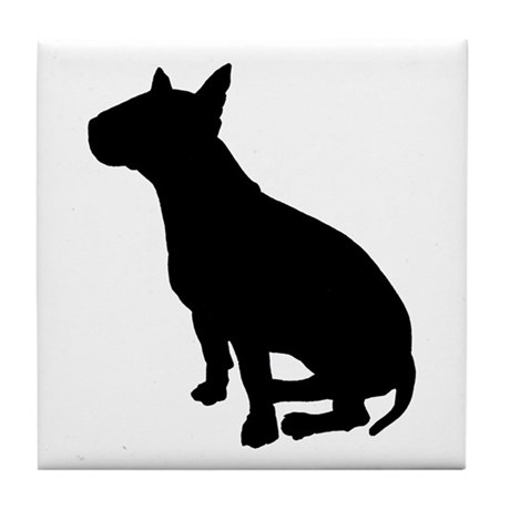 Bull Terrier Dog Breed Tile Coaster