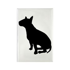 Bull Terrier Dog Breed Rectangle Magnet