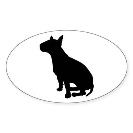 Bull Terrier Dog Breed Oval Sticker