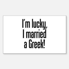 Married a Greek Rectangle Decal