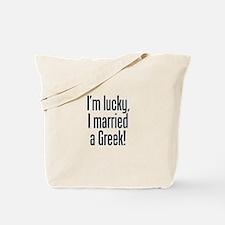 Married a Greek Tote Bag