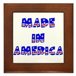 made in america Framed Tile
