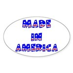 made in america Oval Sticker