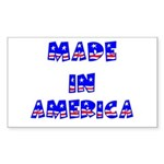 made in america Rectangle Sticker