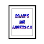 made in america Framed Panel Print