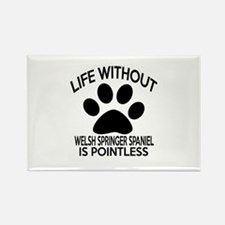 Life Without Welsh Spri Rectangle Magnet (10 pack)