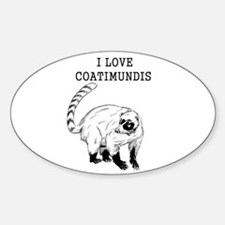I Love Coatimundis Decal