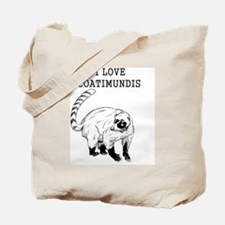 I Love Coatimundis Tote Bag
