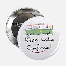 """Keep Calm Campervan 2.25"""" Button"""
