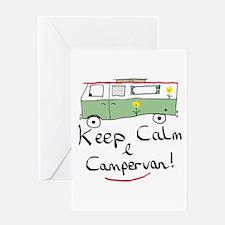 Keep Calm Campervan Greeting Cards