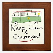 Keep Calm Campervan Framed Tile