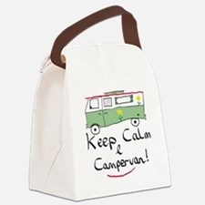 Keep Calm Campervan Canvas Lunch Bag