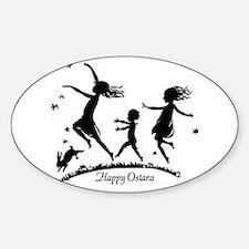Happy Ostara Dance Oval Decal