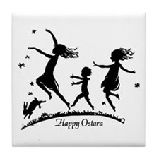 Happy Ostara Dance Tile Coaster