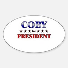 COBY for president Oval Decal