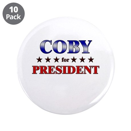 """COBY for president 3.5"""" Button (10 pack)"""