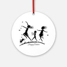 Happy Ostara Dance Keepsake (Round)