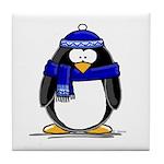 Blue Scarf Penguin Tile Coaster