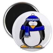 Blue Scarf Penguin Magnet