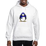 Blue Scarf Penguin Hooded Sweatshirt