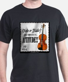 Violin Fiddle String Music Ash Grey T-Shirt