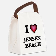 Cute Jensen beach florida Canvas Lunch Bag