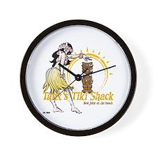Tank's Tiki Shack Wall Clock