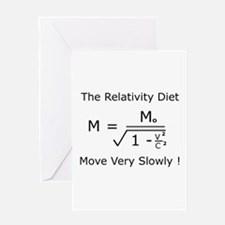 The Relativity Diet Greeting Card