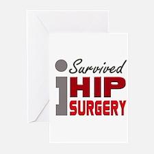 Hip Surgery Survivor Greeting Cards