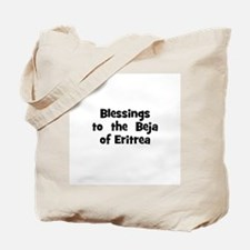 Blessings  to  the  Beja of E Tote Bag
