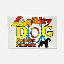 Mini Schnauzer Agility Rectangle Magnet (10 pack)