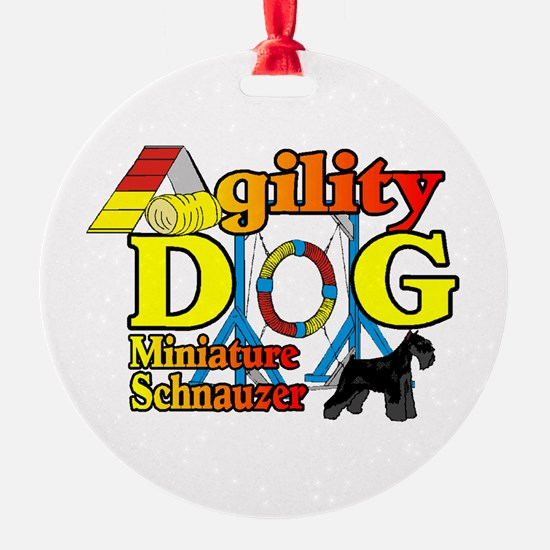 Mini Schnauzer Agility Ornament