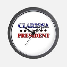 CLARISSA for president Wall Clock