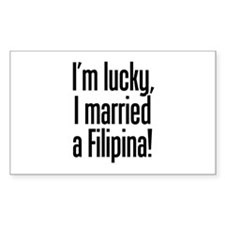 Married a Filipina Rectangle Decal