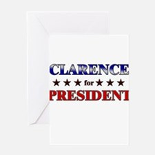 CLARENCE for president Greeting Card