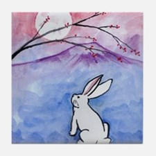 Moon Bunny Tile Coaster