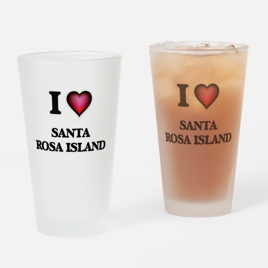 I love Santa Rosa Island Florida Drinking Glass