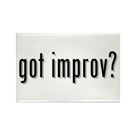 got improv? Rectangle Magnet