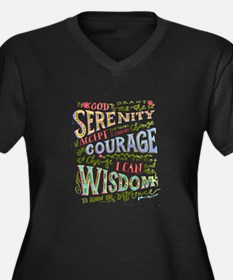 Serenity Prayer - hand lettered Plus Size T-Shirt