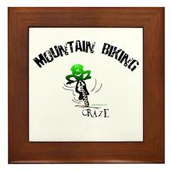 MOUNTAIN BIKING CRAZE Framed Tile