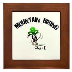 MOUNTAIN BIKING CRAZE Framed Tile