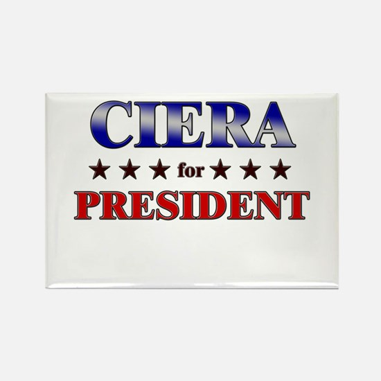 CIERA for president Rectangle Magnet