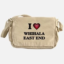 I love Whihala East End Indiana Messenger Bag