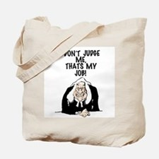 Cartoon illustration of a judge. Tote Bag